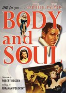 Body and Soul - DVD movie cover (xs thumbnail)