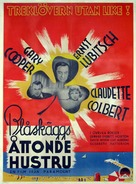Bluebeard's Eighth Wife - Swedish Movie Poster (xs thumbnail)