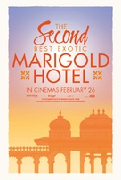 The Second Best Exotic Marigold Hotel - British Movie Poster (xs thumbnail)