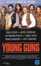 Young Guns - German VHS movie cover (xs thumbnail)
