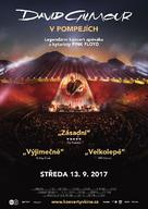 David Gilmour Live at Pompeii - Czech Movie Poster (xs thumbnail)