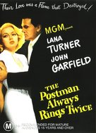 The Postman Always Rings Twice - Australian DVD movie cover (xs thumbnail)