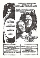 Det sjunde inseglet - Spanish poster (xs thumbnail)