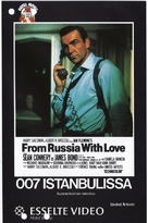 From Russia with Love - Finnish VHS movie cover (xs thumbnail)
