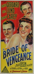 Bride of Vengeance - Australian Movie Poster (xs thumbnail)