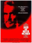The Hunt for Red October - German Movie Poster (xs thumbnail)