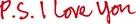 P.S. I Love You - Logo (xs thumbnail)