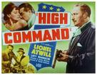 The High Command - Movie Poster (xs thumbnail)