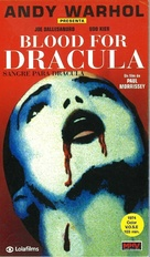 Blood for Dracula - Spanish VHS movie cover (xs thumbnail)