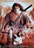 The Last of the Mohicans - German Movie Poster (xs thumbnail)