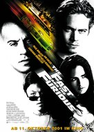 The Fast and the Furious - German Movie Poster (xs thumbnail)
