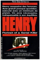 Henry: Portrait of a Serial Killer - French Movie Poster (xs thumbnail)
