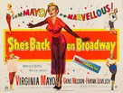 She's Back on Broadway - British Movie Poster (xs thumbnail)