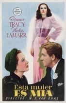 I Take This Woman - Spanish Movie Poster (xs thumbnail)