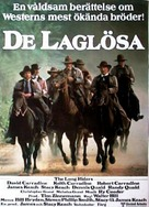 The Long Riders - Swedish Movie Poster (xs thumbnail)