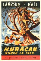 The Hurricane - Spanish Movie Poster (xs thumbnail)