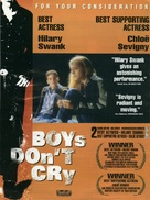 Boys Don't Cry - For your consideration movie poster (xs thumbnail)