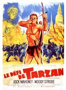 Tarzan's Three Challenges - French Movie Poster (xs thumbnail)