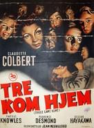 Three Came Home - Danish Movie Poster (xs thumbnail)