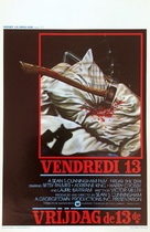 Friday the 13th - Belgian Movie Poster (xs thumbnail)