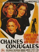 A Letter to Three Wives - French Movie Poster (xs thumbnail)