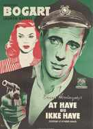 To Have and Have Not - Danish Movie Poster (xs thumbnail)