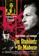 Im Stahlnetz des Dr. Mabuse - German Movie Poster (xs thumbnail)