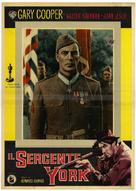 Sergeant York - Italian Movie Poster (xs thumbnail)