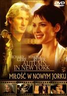 Autumn in New York - Polish Movie Cover (xs thumbnail)
