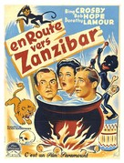 Road to Zanzibar - French Movie Poster (xs thumbnail)