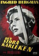 Europa '51 - Swedish Movie Poster (xs thumbnail)