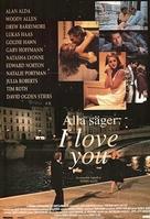 Everyone Says I Love You - Swedish Movie Poster (xs thumbnail)
