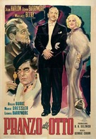 Dinner at Eight - Italian Movie Poster (xs thumbnail)