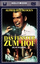 Rear Window - German VHS movie cover (xs thumbnail)