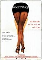 Secretary - German Movie Poster (xs thumbnail)
