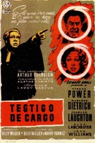 Witness for the Prosecution - Spanish Movie Poster (xs thumbnail)