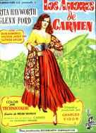 The Loves of Carmen - Spanish Movie Poster (xs thumbnail)