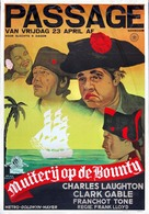 Mutiny on the Bounty - Dutch Movie Poster (xs thumbnail)