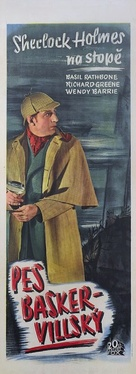 The Hound of the Baskervilles - Czech Movie Poster (xs thumbnail)