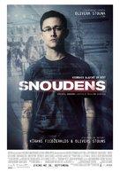 Snowden - Latvian Movie Poster (xs thumbnail)