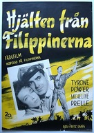 American Guerrilla in the Philippines - Swedish Movie Poster (xs thumbnail)