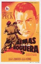 Twelve O'Clock High - Spanish Movie Poster (xs thumbnail)
