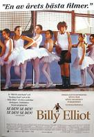 Billy Elliot - Swedish Movie Poster (xs thumbnail)