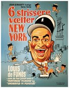 Le gendarme à New York - Danish Movie Poster (xs thumbnail)