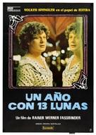 In einem Jahr mit 13 Monden - Spanish Movie Poster (xs thumbnail)