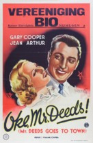 Mr. Deeds Goes to Town - Dutch Movie Poster (xs thumbnail)