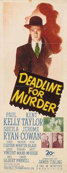 Deadline for Murder - Movie Poster (xs thumbnail)