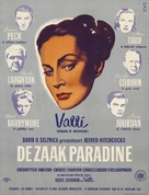The Paradine Case - Dutch Movie Poster (xs thumbnail)