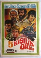 Esercito di cinque uomini, Un - Turkish Movie Poster (xs thumbnail)