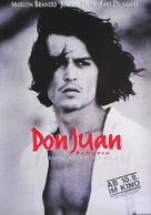 Don Juan DeMarco - German poster (xs thumbnail)
